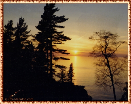 Gichigami - Lake Superior near Montreal River, Ontario - Home of the Anishiabe Ojibwe
